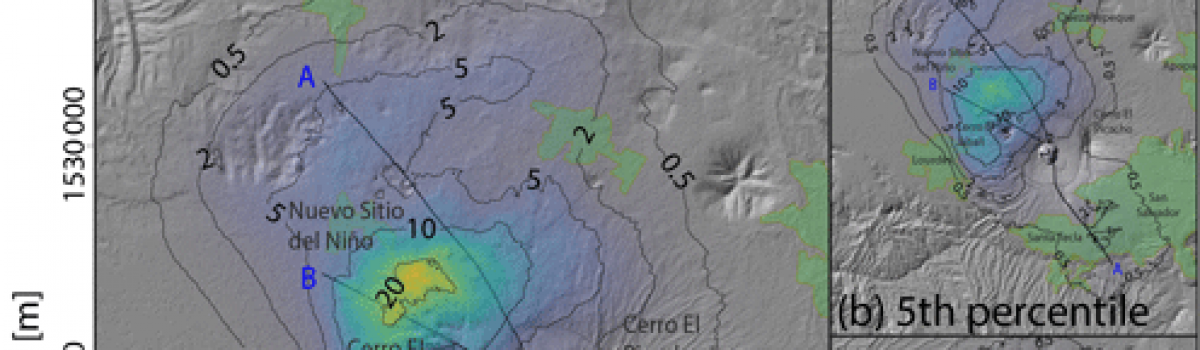 Thematic vent opening probability maps and hazard assessment of small-scale pyroclastic density currents in the San Salvador volcanic complex (El Salvador) and Nejapa-Chiltepe volcanic complex (Nicaragua)